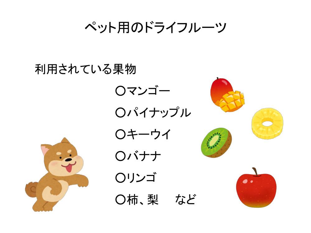 ペット用のドライフルーツ